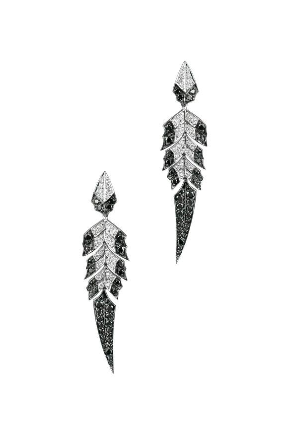Stephen Webster 18K White Gold Diamond Magnipheasant Earrings