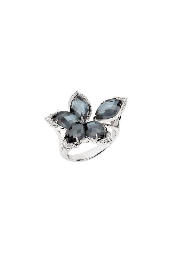 Stephen Webster White Gold Hematite & Diamond Ring