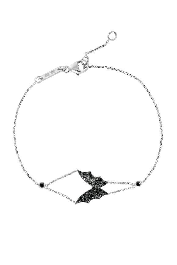 Stephen Webster 18K White Gold Fly By Night Black Diamond Bracelet