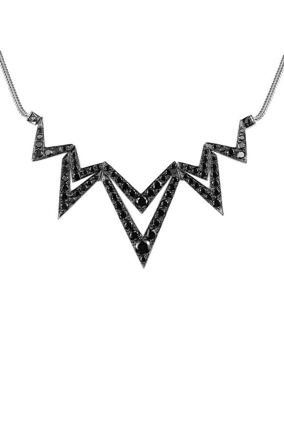 Stephen Webster 18K Gold Black Diamond Lady Stardust Necklace