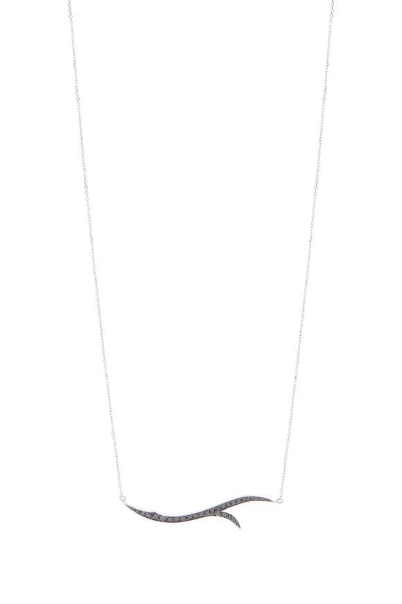 Stephen Webster 18K White Gold Black Diamond Thorn Stem Necklace