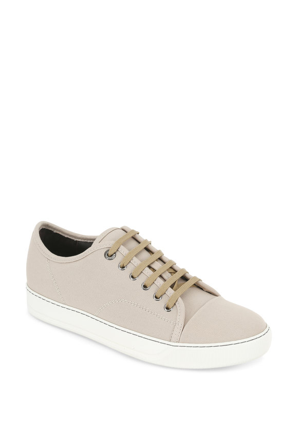 Lanvin Light Beige Canvas Low Top Sneaker