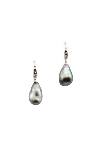 Assael - 18K White Gold & Keshi Pearls & Diamonds Earrings