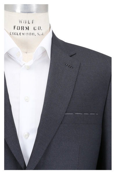 Brioni - Solid Charcoal Gray Wool Suit