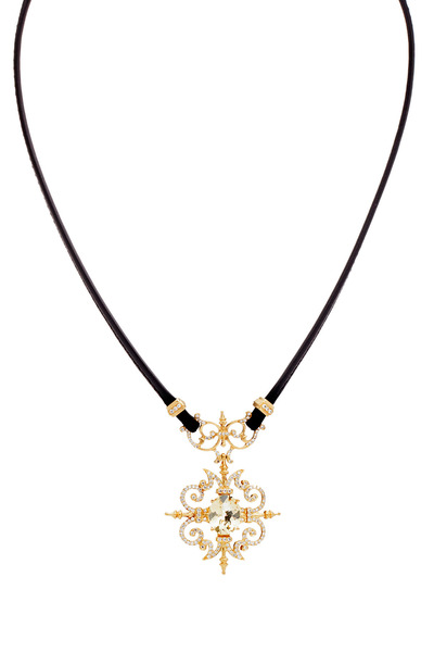 Paul Morelli - Gold Diamond & Citrine Garden Gate Necklace