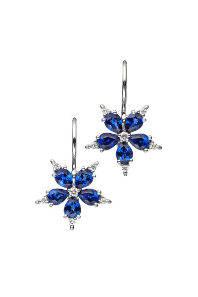 Paul Morelli - White Gold Blue Sapphire Diamond Earrings