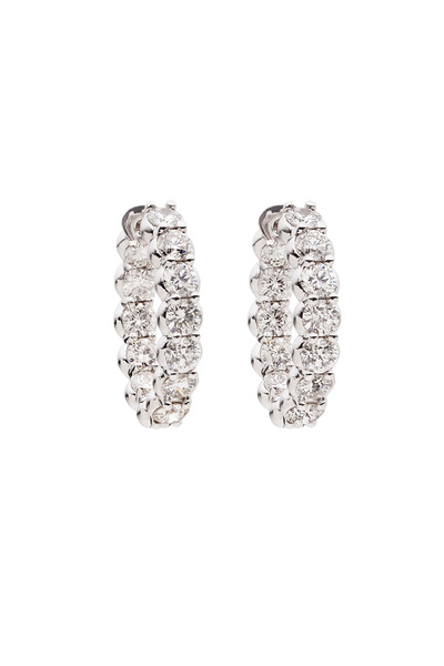 Paul Morelli - White Gold Pinpoint White Diamond Earrings