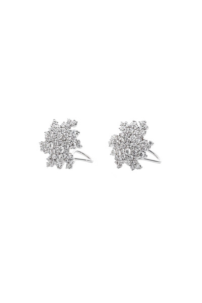 Paul Morelli - White Gold Confetti Clip Diamond Earrings