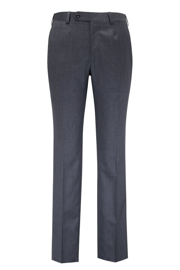 Oxxford Clothes Gray Wool Trouser