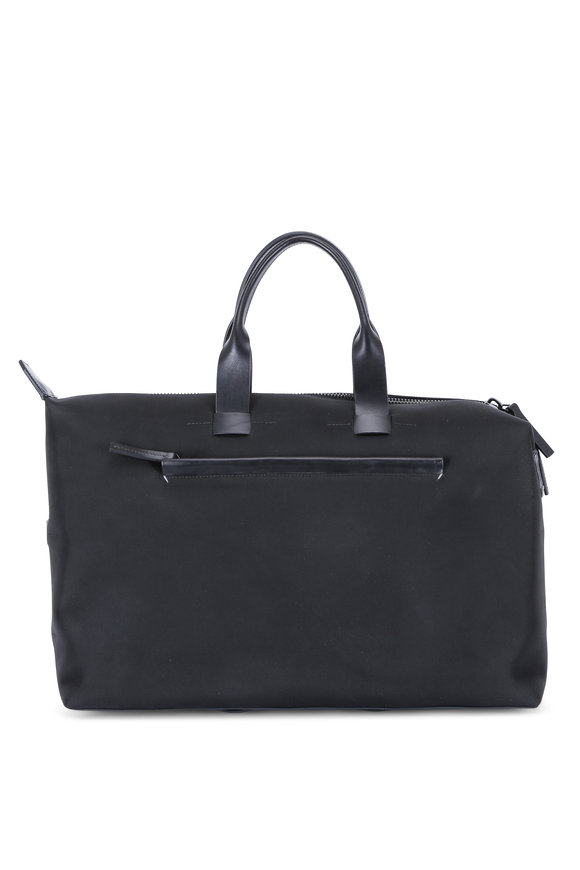 Troubadour Black Nylon & Leather Weekender Bag