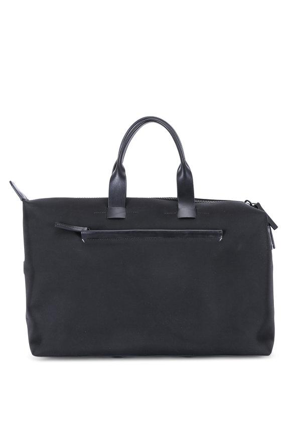 Troubadour Black Nylon & Leather Weekender Bag