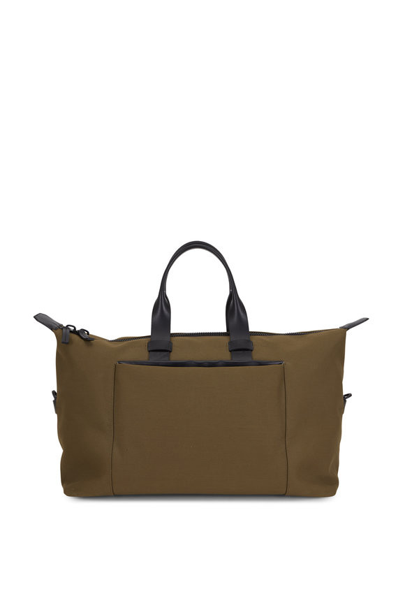 Troubadour Khaki Canvas & Leather Weekender Bag