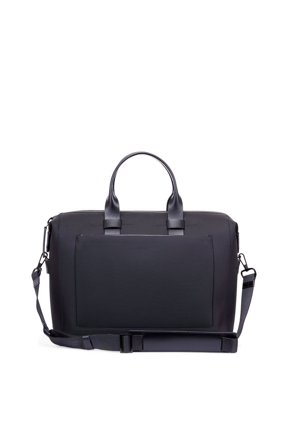 Troubadour Black Coated Canvas & Leather 24-Hour Bag