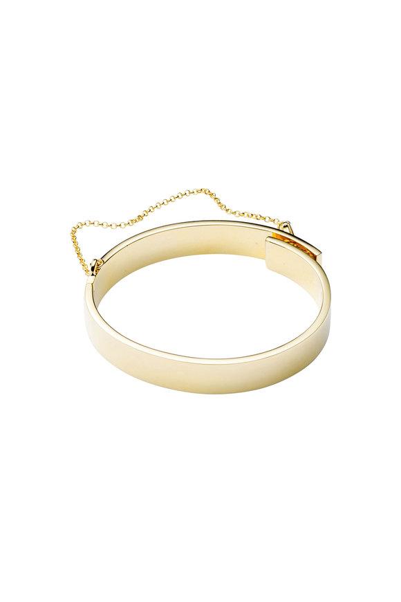 Eddie Borgo Yellow Gold Brass Cuff Bracelet