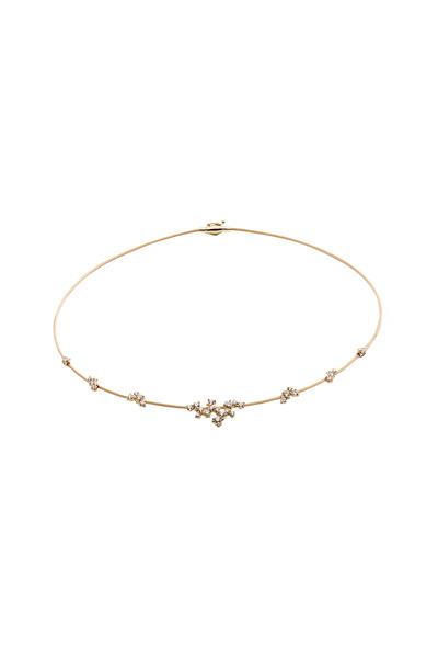 Paul Morelli - Yellow Gold Diamond Single Wire Confetti Necklace