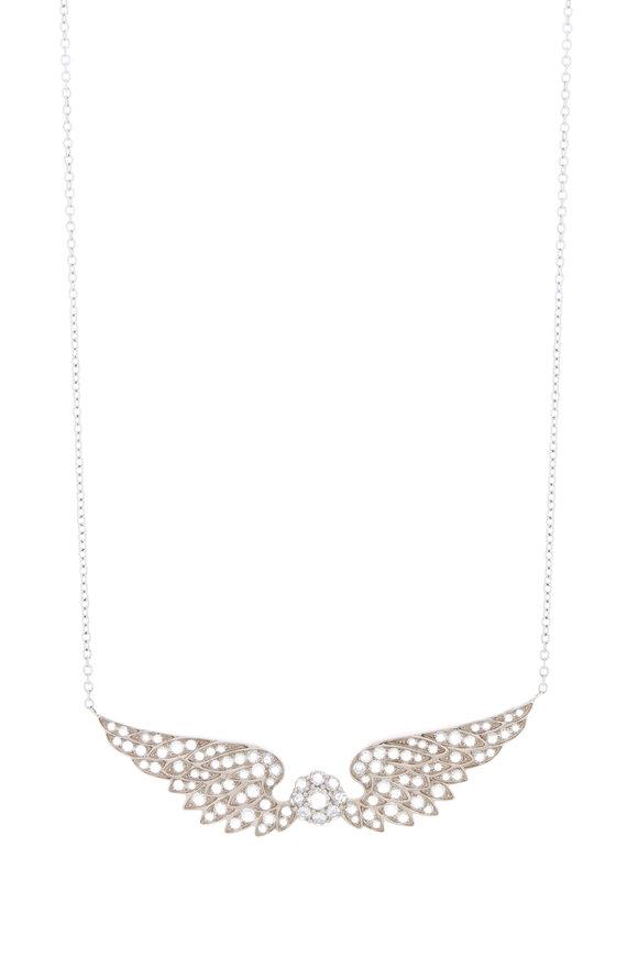 Nam Cho 18K Gold Diamond Angel Wing Pendant Necklace