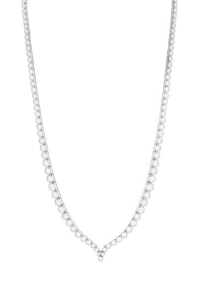 Fred Leighton - Platinum Diamond Scallop Necklace