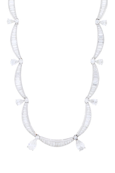 Fred Leighton - Platinum Diamond Swag Necklace