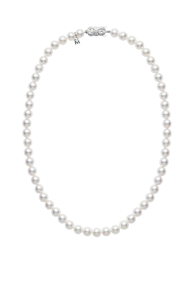 18K White Gold Pearl Necklace