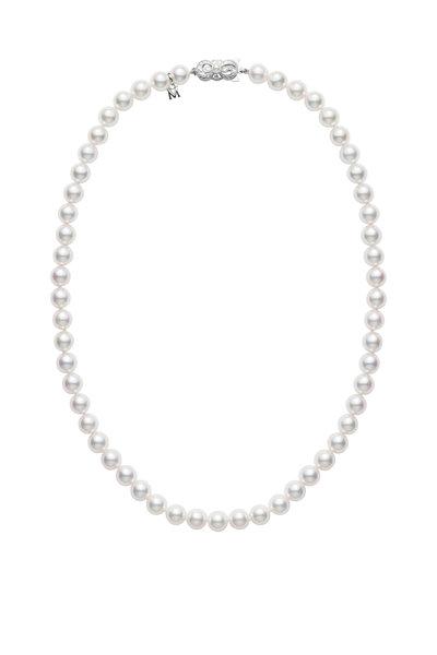 Mikimoto - 18K White Gold Pearl Necklace