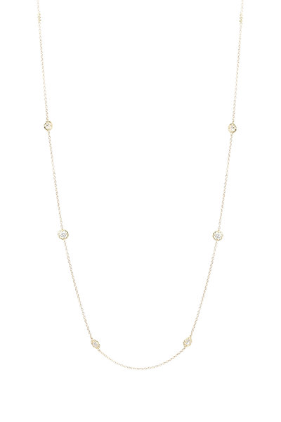 Paul Morelli - 18K Yellow Gold Diamond Station Necklace
