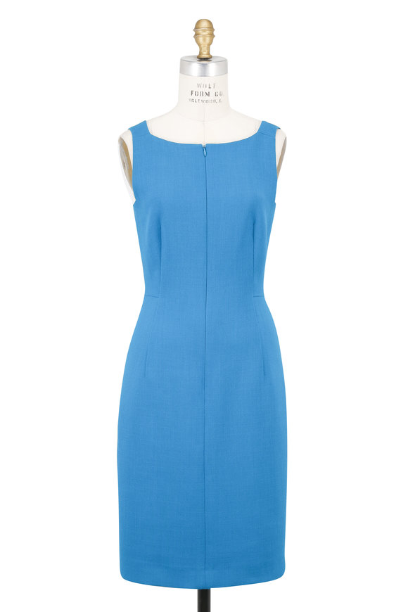 Akris Whirlaway Double-Faced Wool Zip Front Dress