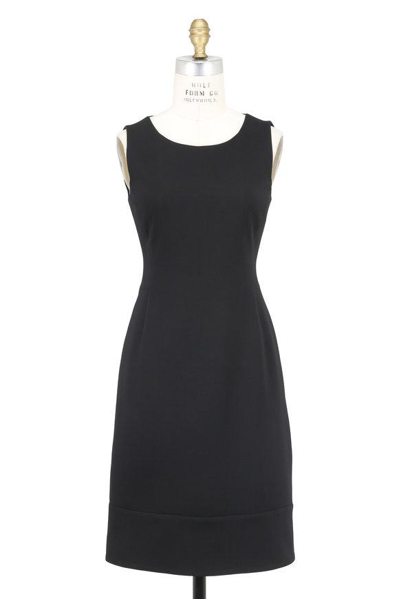 Akris Black Double-Faced Wool Sleeveless Dress