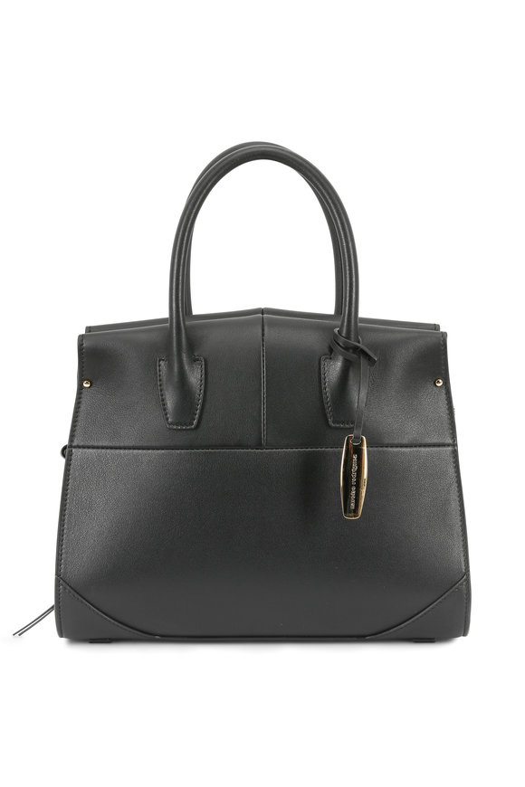 Narciso Rodriguez Aya Black Leather Mini Satchel
