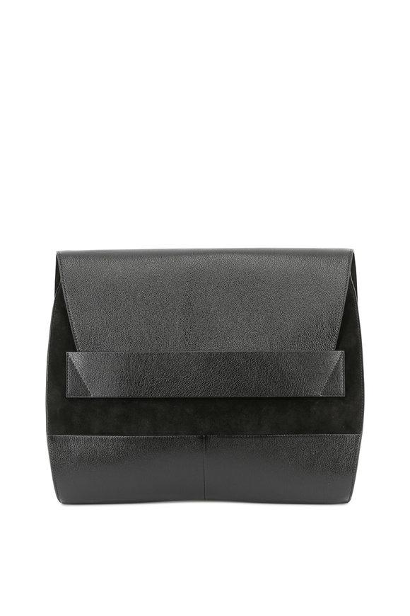 Narciso Rodriguez Jaq Black Leather & Suede Shoulder Bag