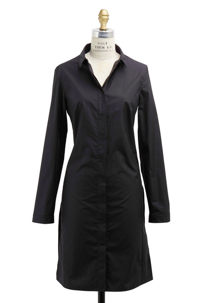 Akris - Black Cotton Tunic Coat