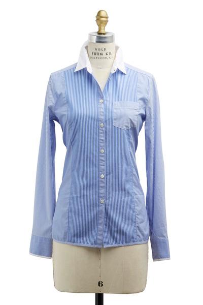 Bogner - Cosy Light Blue Cotton Blouse