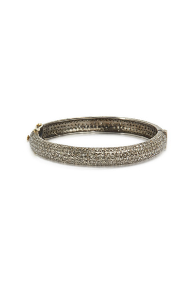Loren Jewels - Gold & Silver Rose-Cut Diamond Bangle