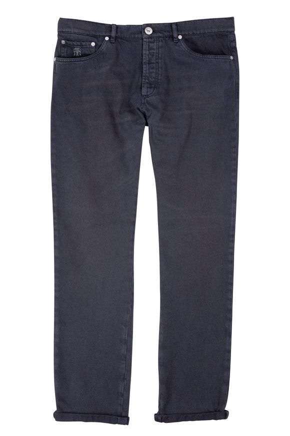 Brunello Cucinelli Dark Grey Five Pocket Jean