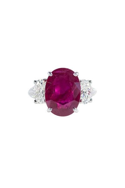 Oscar Heyman - Platinum Ruby & Diamond Ring