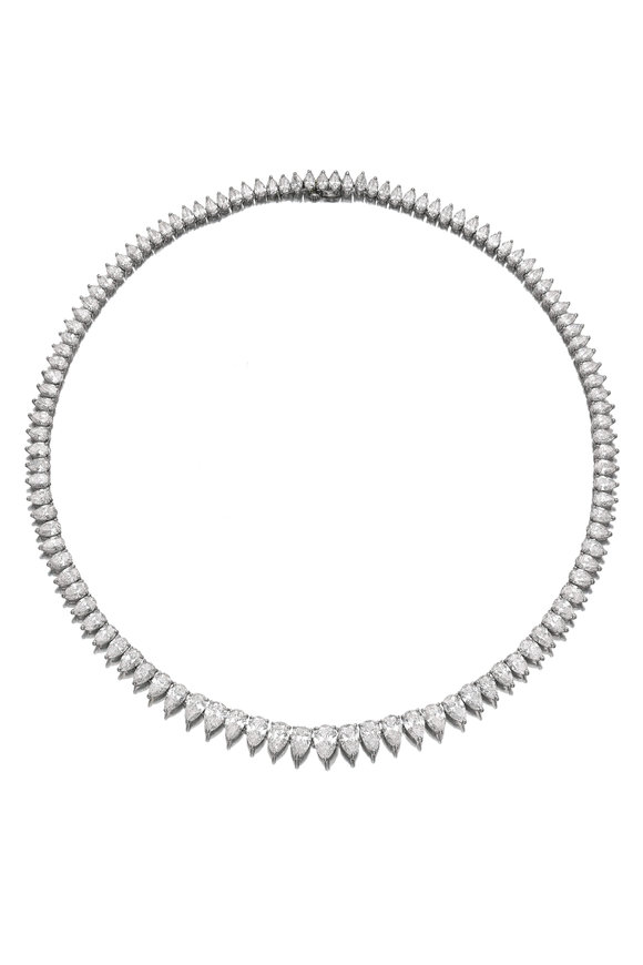 Oscar Heyman Platinum Diamond Necklace