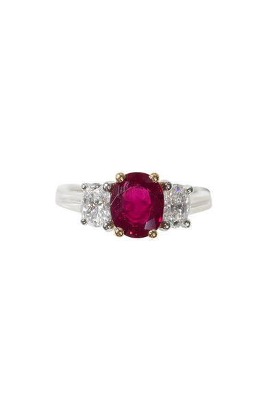 Oscar Heyman - Platinum Ruby & Diamond Ring