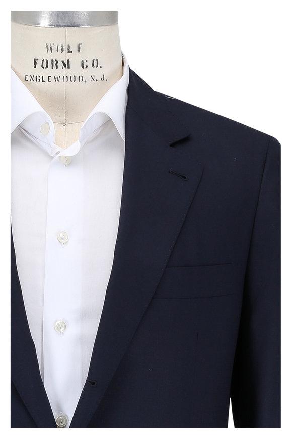 Brunello Cucinelli Navy Blue Wool & Silk Sportcoat