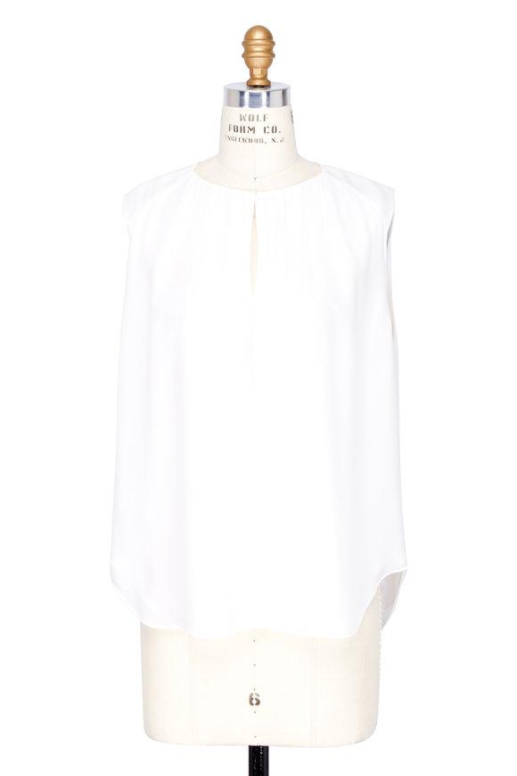 L'Agence Abella Ivory Silk Sleeveless Blouse