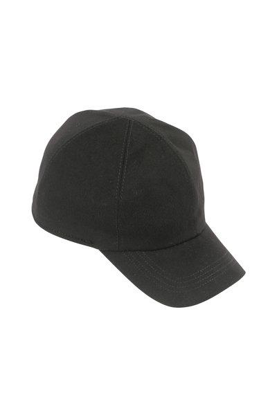 Wigens - Black Loro Piana Wool Storm System Cap