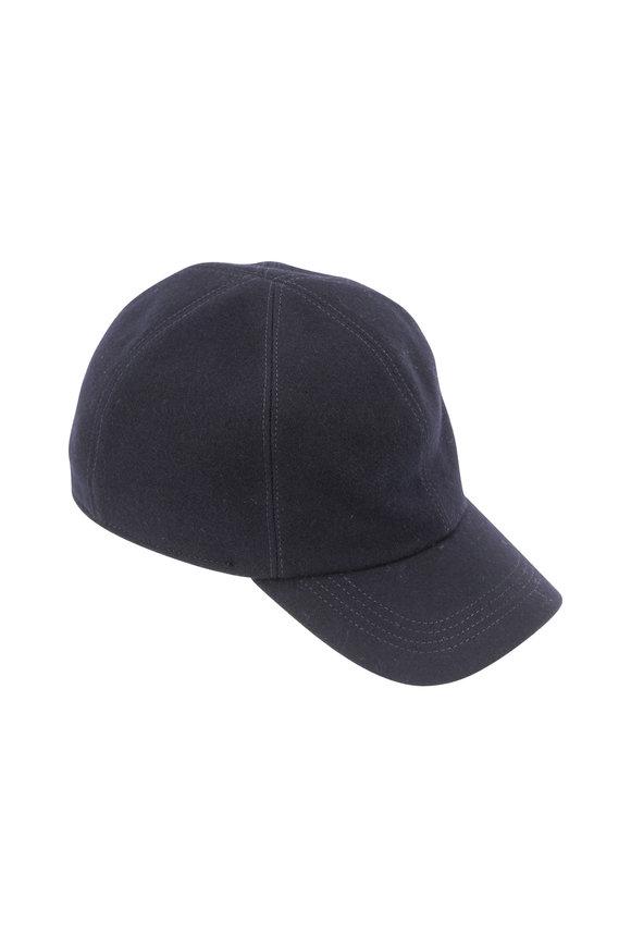 Wigens Navy Blue Wool Cap