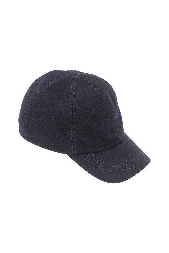 Wigens Navy Blue Wool Cap