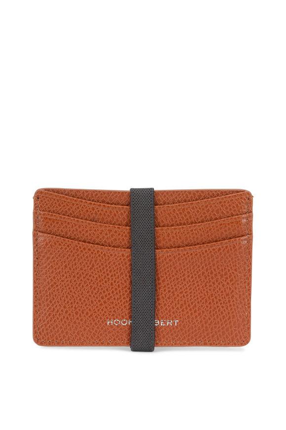 Hook + Albert Brown Pebbled Leather Slim Card Holder
