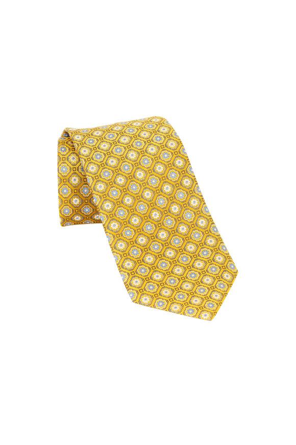 Eton Yellow Flower Silk Necktie