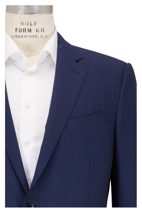 Ermenegildo Zegna Solid Blue High Performance Wool Suit