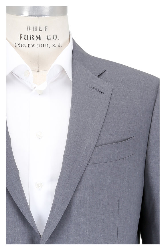 Ermenegildo Zegna Solid Medium Gray High Performance Wool Suit