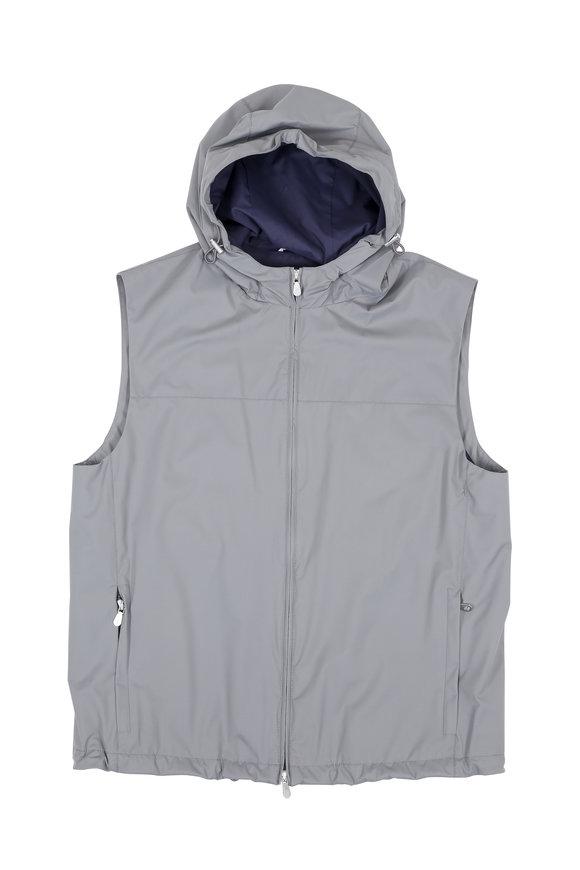 Brunello Cucinelli Gray Hooded Performance Vest