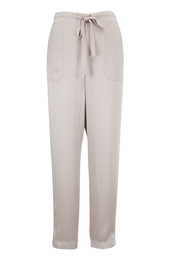 Vince Stucco Satin Patch Pocket Pull-On Pant