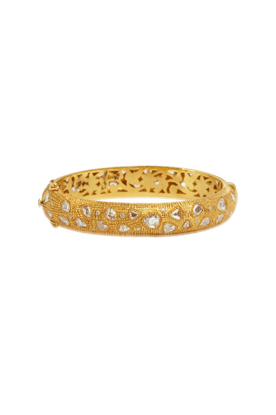 Loren Jewels - Yellow Gold Rose-Cut White Diamond Bangle
