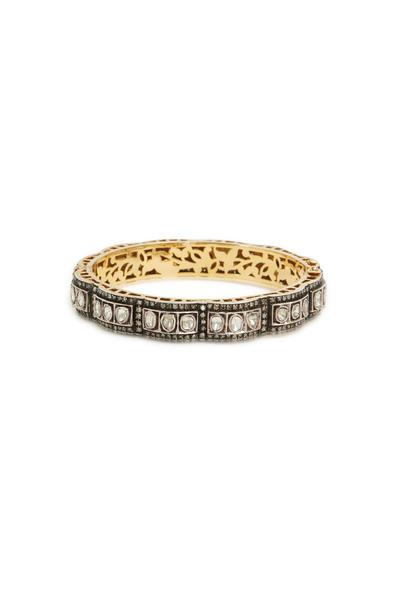 Loren Jewels - Gold & Sterling Silver Rose-Cut Diamond Bangle