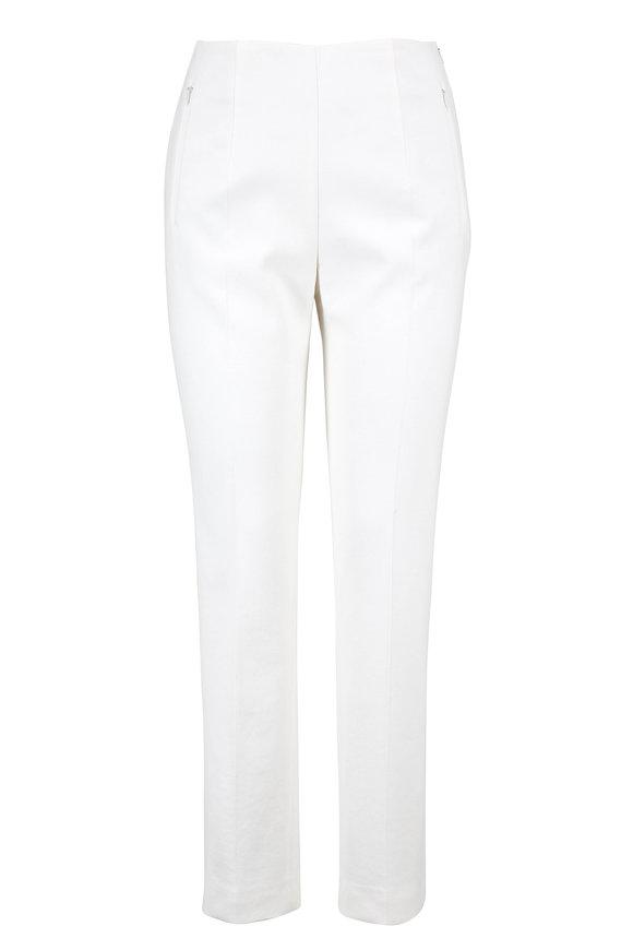Akris Moonstone Stretch Cotton & Silk Slim Crop Pant
